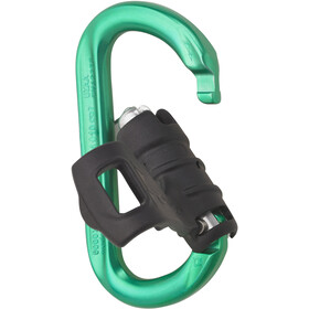 AustriAlpin Ovalock Snapgate Carabiner for safer belaying green anodized